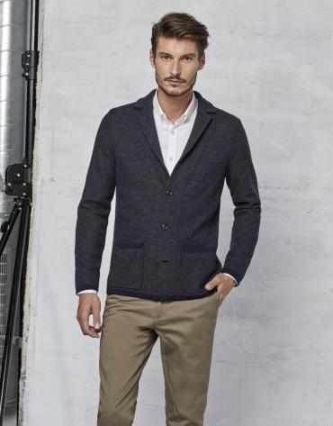 Gilet style veste bleu marine