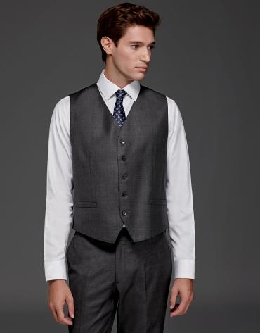 Gilet de costume gris en laine