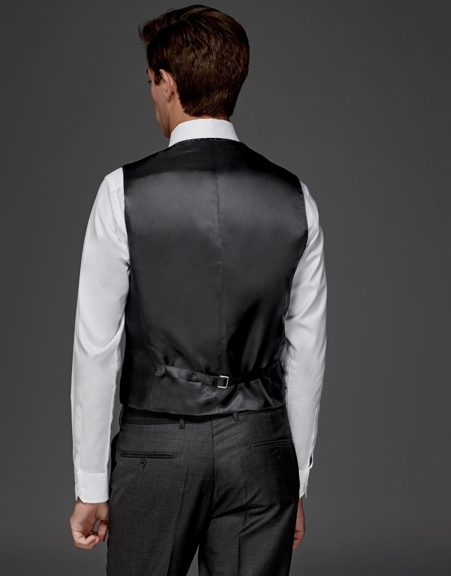 Gray wool dressy vest