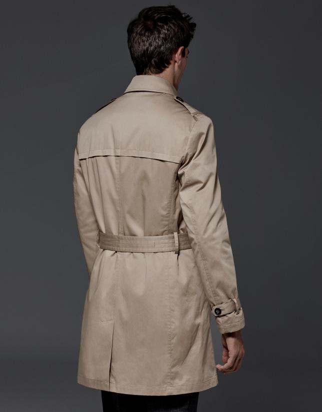 Beige classic raincoat
