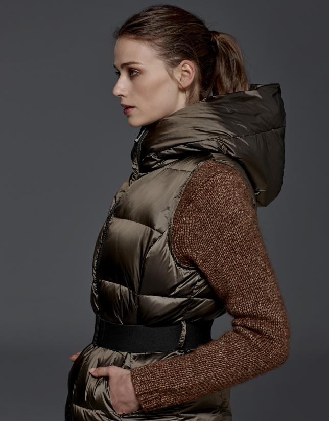 Chaleco acolchado marrón