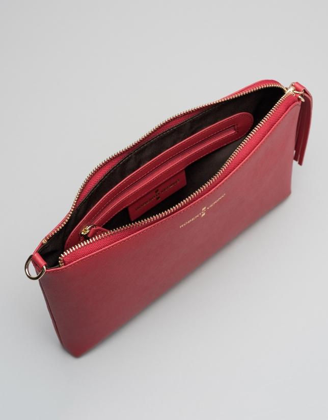 Clutch Lisa saffiano rojo