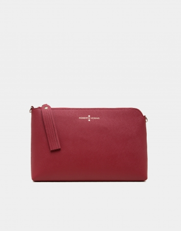 Clutch Lisa saffiano rouge