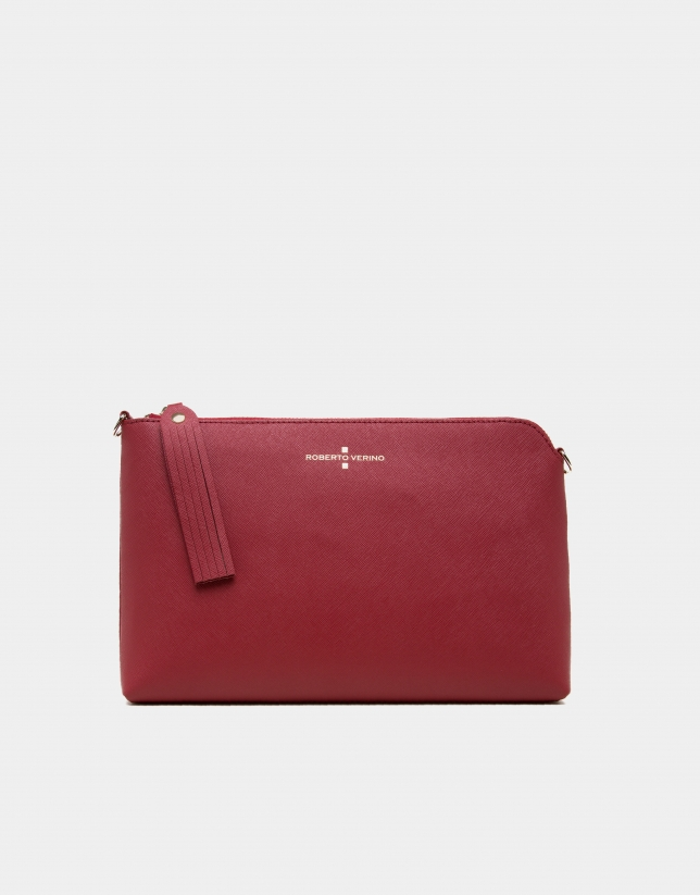 Red Saffiano leather Lisa Clutch