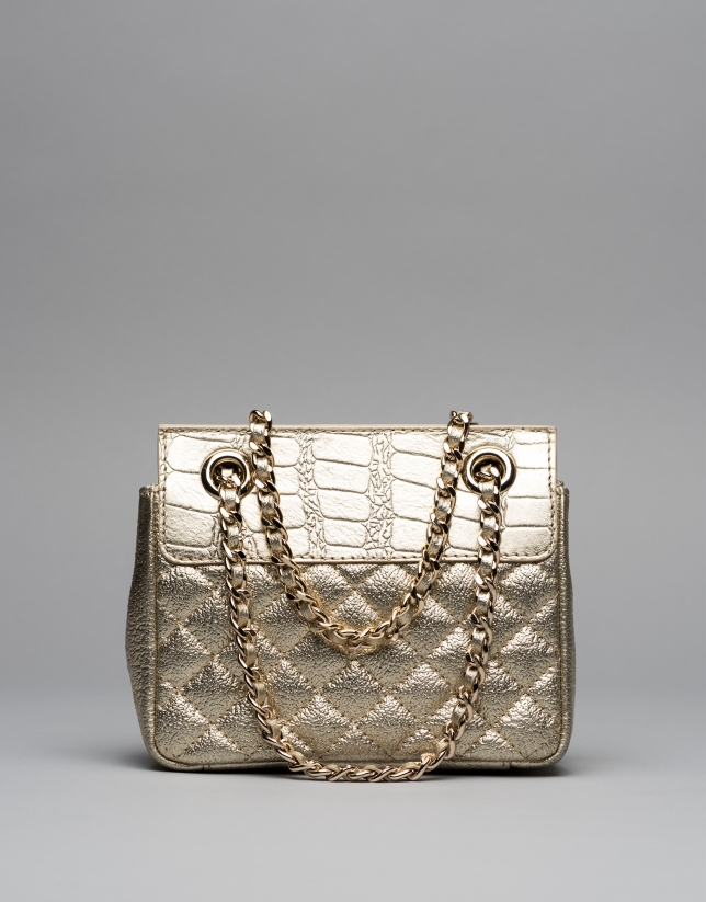 Chiaro gold Ghauri Nano shoulder bag