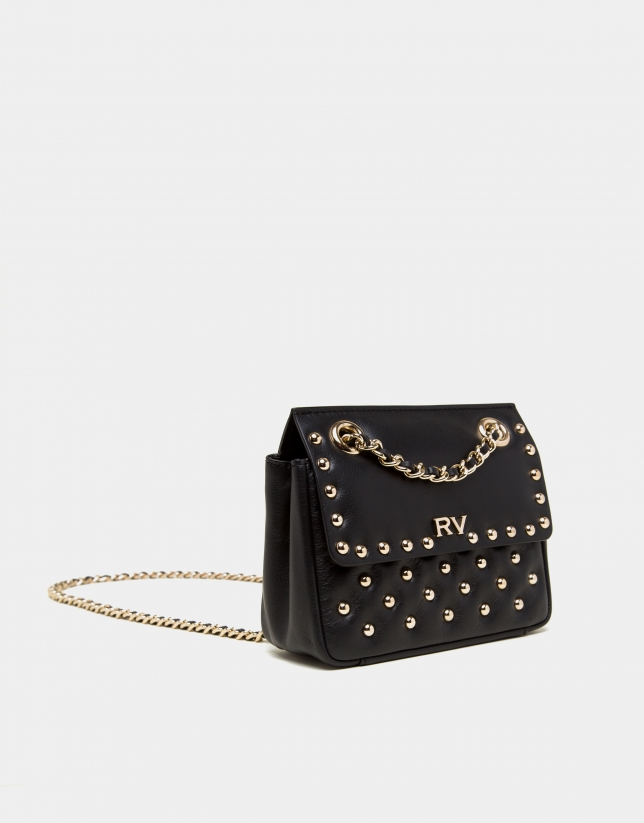Black Ghauri Nano bag with metallic appliqué
