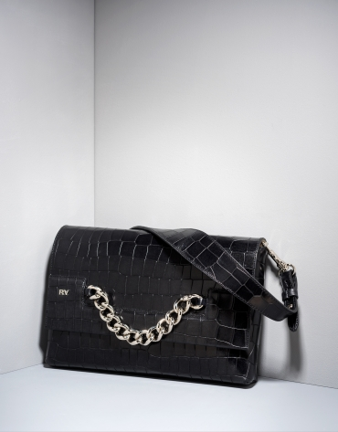 Black alligator leather Sena billfold