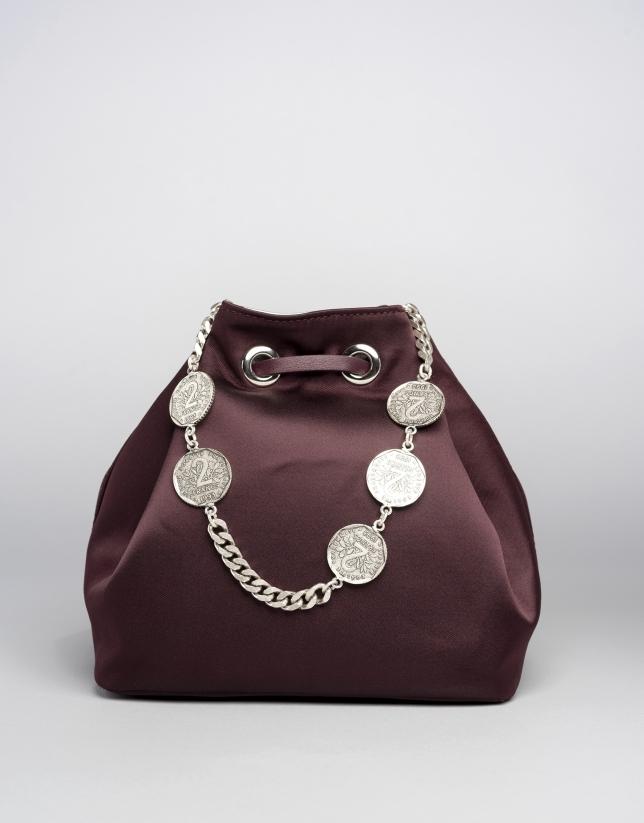 Burgundy Saint Germaine bouquet bag