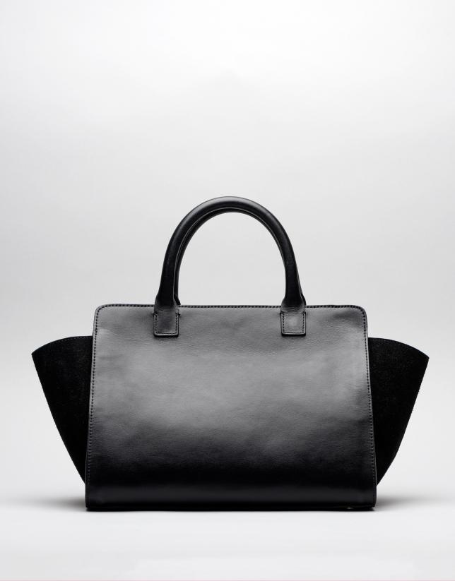Sac tote Pompidou en cuir noir