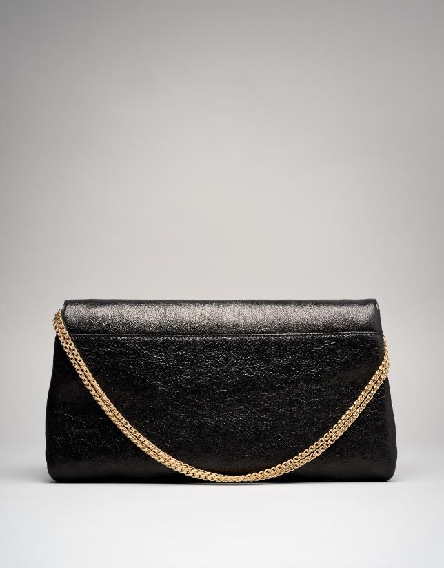 Portefeuille à main Tiffany en cuir noir