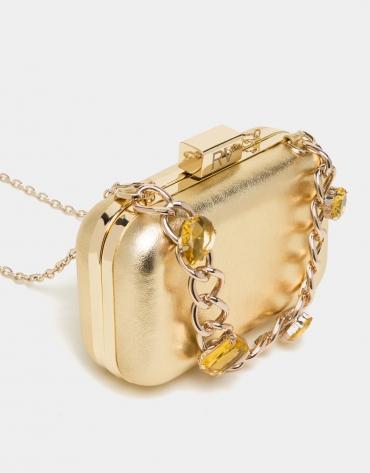 Bolso clutch Bird oro chiaro