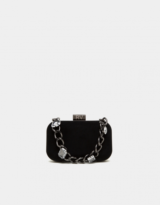 Bolso clutch Bird negro