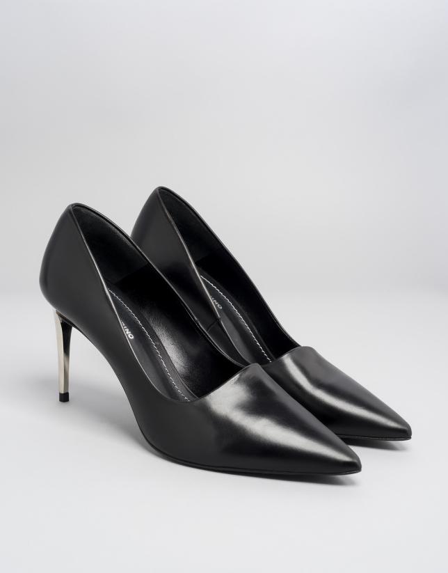 Zapato salón Eiffel en piel color negro