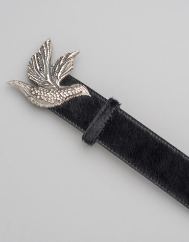 Cinturón pelo color negro