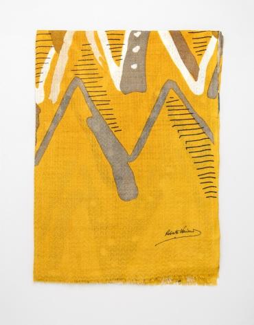 Etole imprimée géométrique couleur moutarde