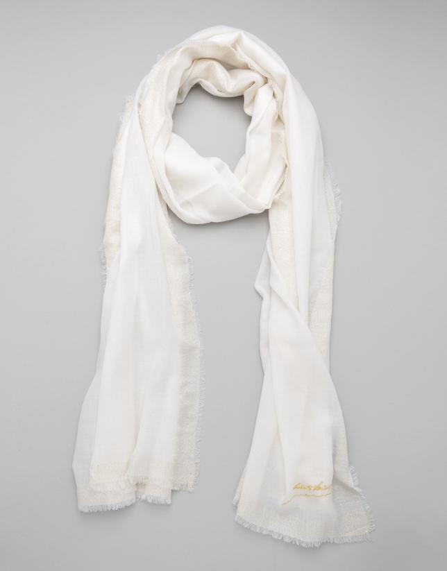 Foulard lana color marfil
