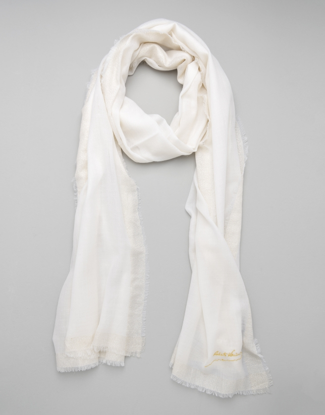 Ivory wool scarf