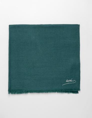 Foulard liso de lana verde