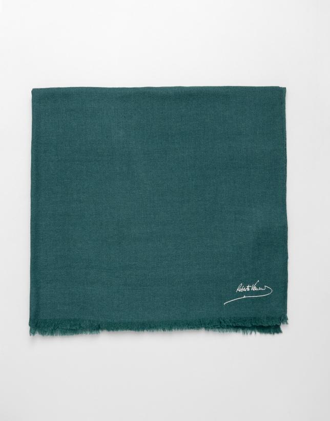 Etole unie en laine vert