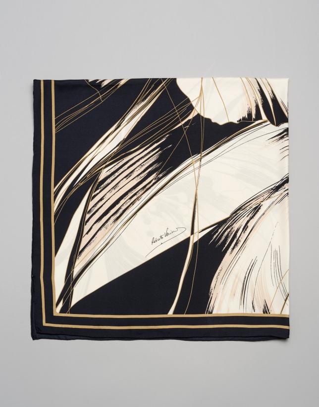 Foulard en soie imprimé floral