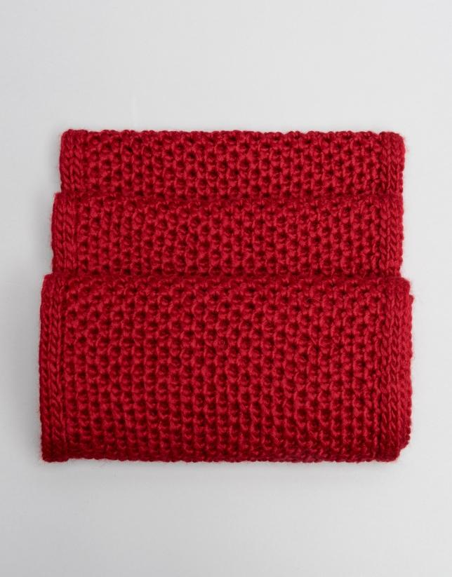 Tubular de lana rojo