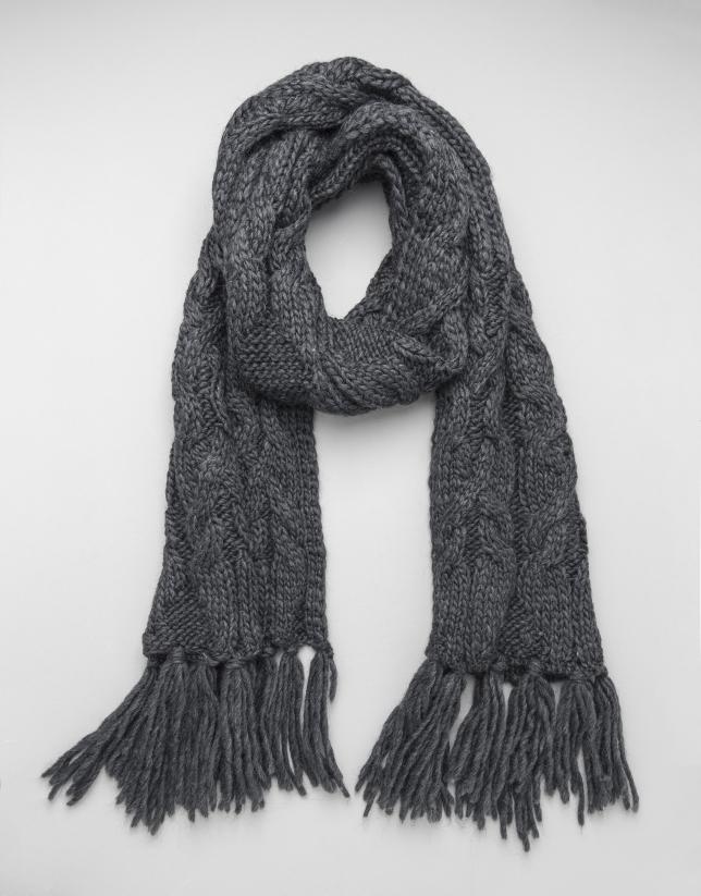 charpe en laine gris