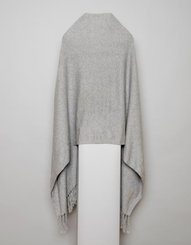 Cape à franges gris