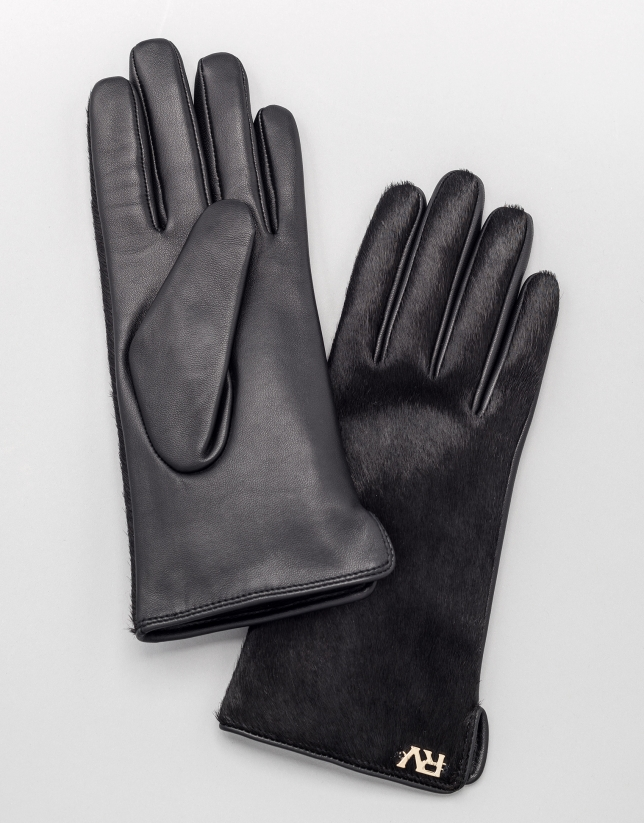 Leather and calfskin gloves