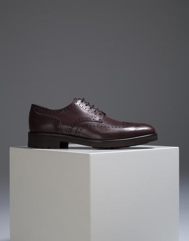 Chaussure classique marron avec surpiqûres