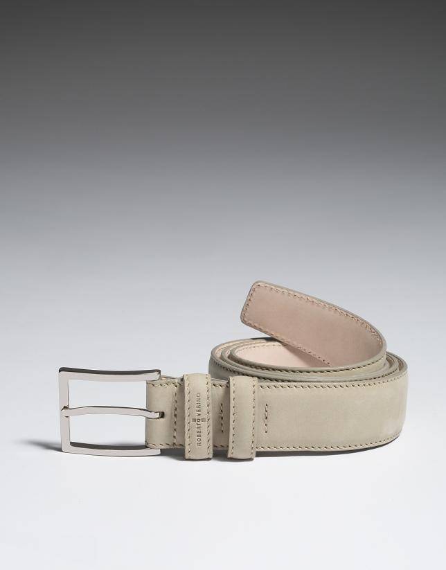 Beige nobuck belt