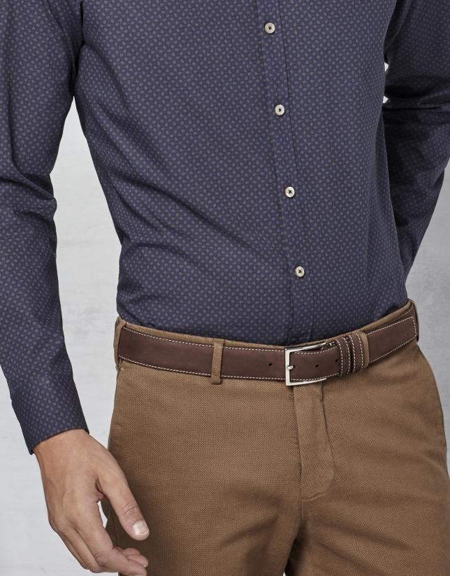 Brown nobuck belt