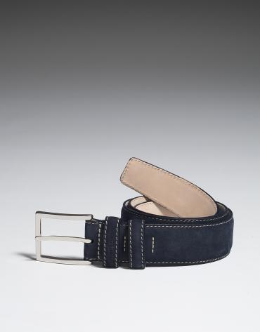 Cinturón nobuck marino