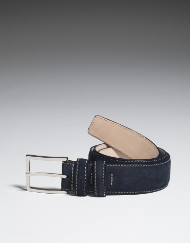 Navy blue nobuck belt
