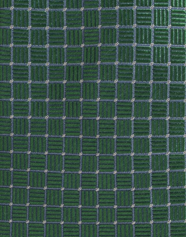 Corbata de seda verde con estructura de perfil crudo