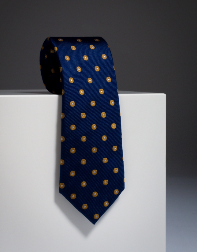 Corbata de seda color azul
