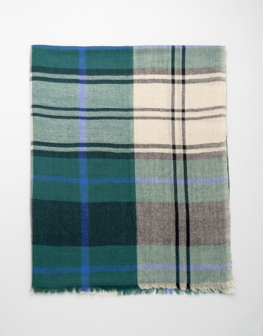 Green checked scarf