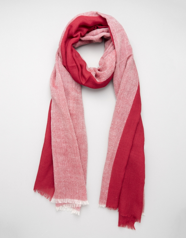 Maroon two-tone scarf