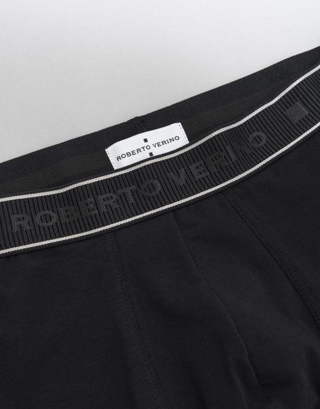 Black knit boxer shorts