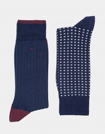 Pack of navy blue socks