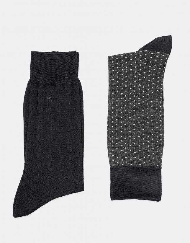 Pack de chaussettes en noir et gris