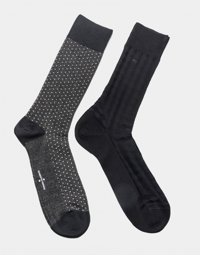 Pack of black and gray socks
