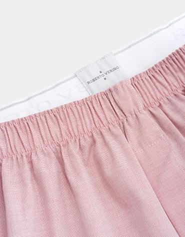 Pink fabric boxer shorts