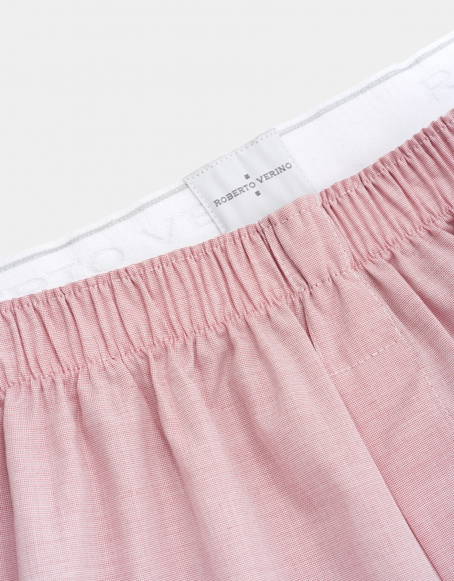 Bóxer tela rosa