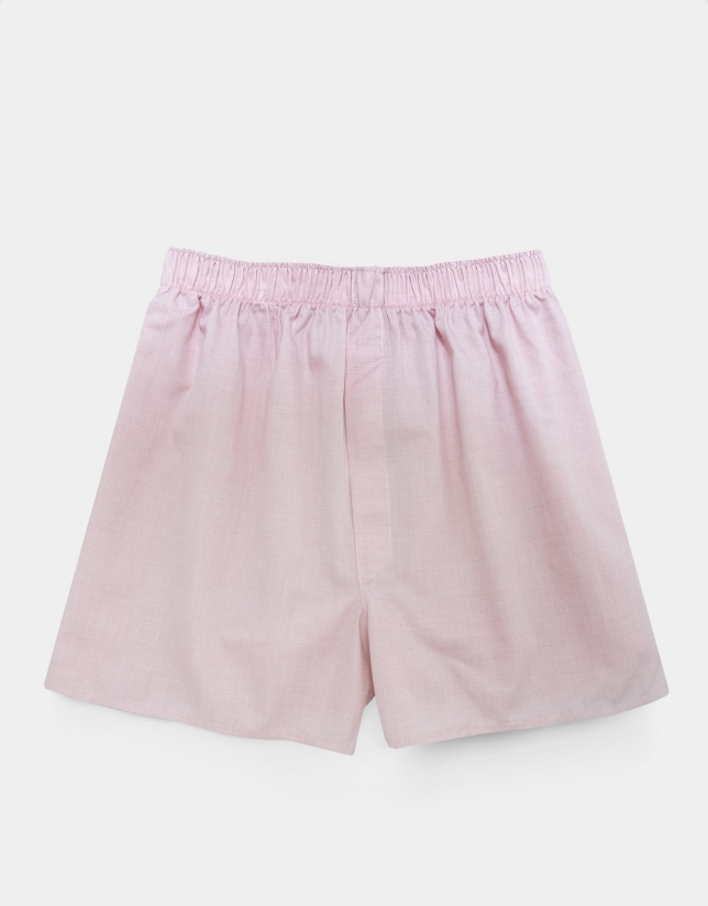 Pink fabric boxer shorts