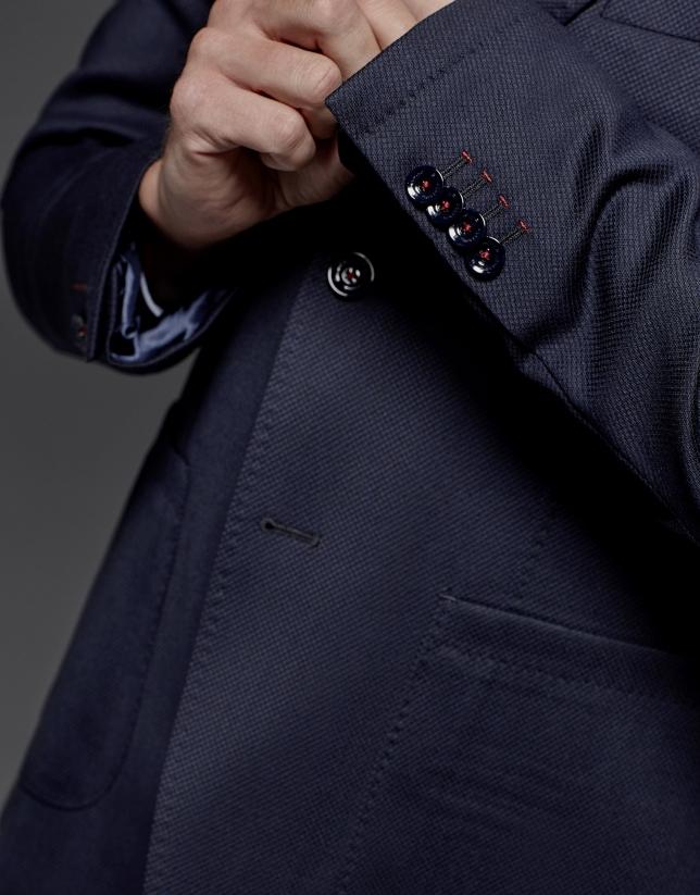 Veste bleu marine avec poches plaquées