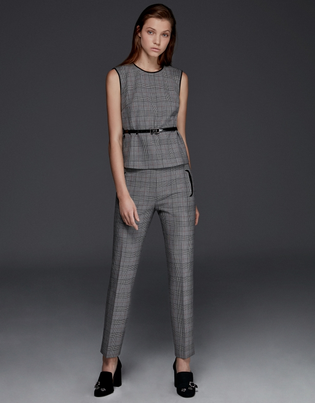 Gray glen plaid pants