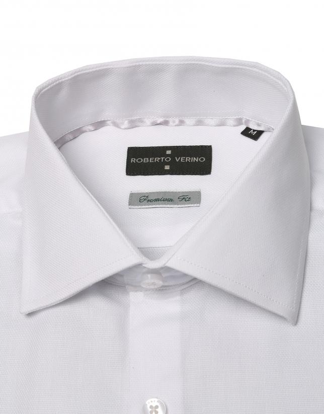Chemise de costume Oxford blanche