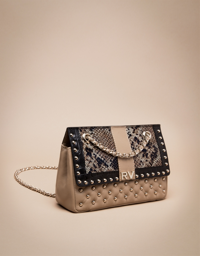 Beige exotic Ghauri shoulder bag