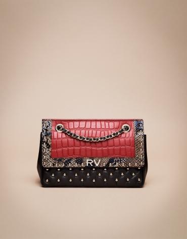 Red exotic Ghauri shoulder bag