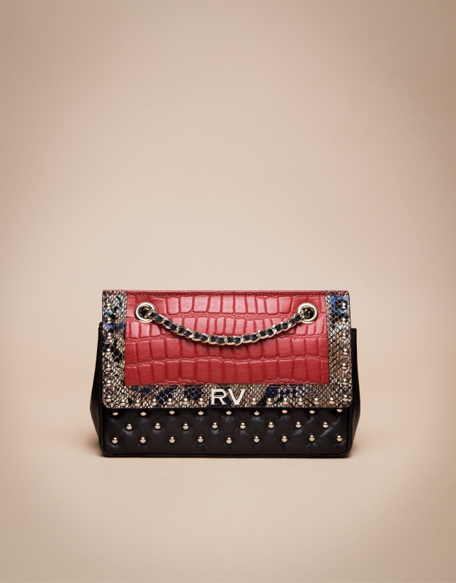 Sac shoulder Ghauri exotic rouge